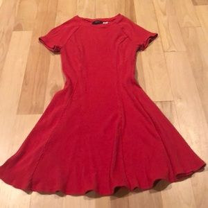 BDG Dark Pink Ribbed Mini Dress